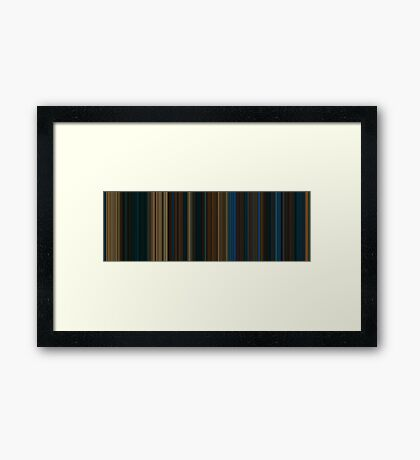 Moviebarcode: Pan's Labyrinth (2006) [Simplified Colors] Framed Print