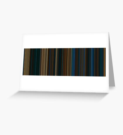 Moviebarcode: Pan's Labyrinth (2006) [Simplified Colors] Greeting Card