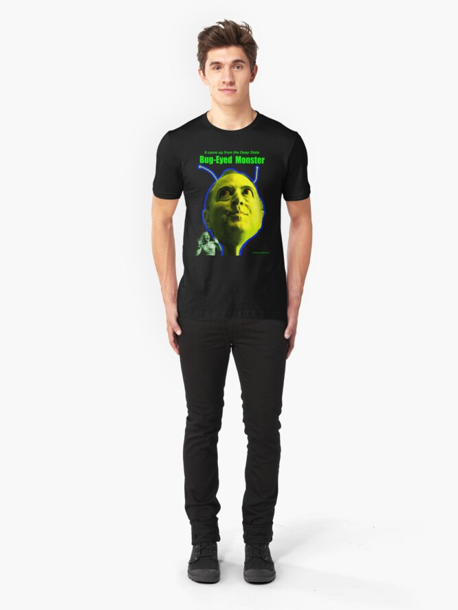 Alternate view of Bug-Eyed Monster Slim Fit T-Shirt