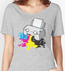 Puker Printer Women's Relaxed Fit T-Shirt
