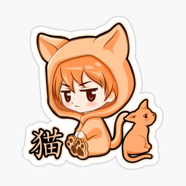 Chibi Cute Kyo Cat Zodiac Fruits Basket Sticker