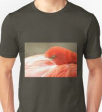 Flamingo eye from Zoo  Unisex T-Shirt