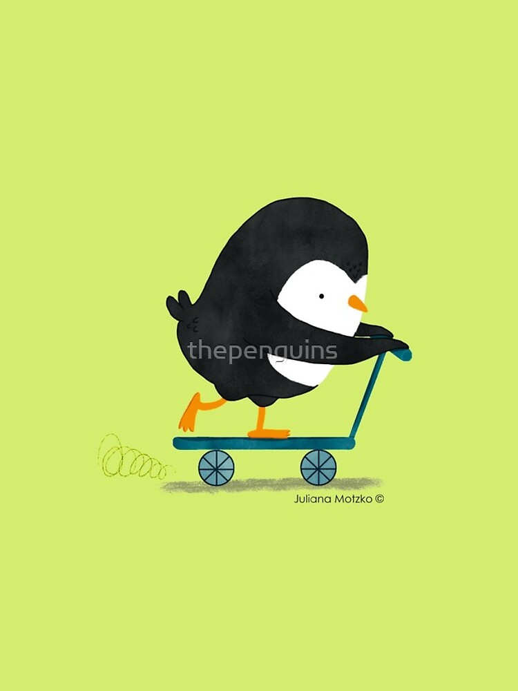 Penguin on Scooter by thepenguins