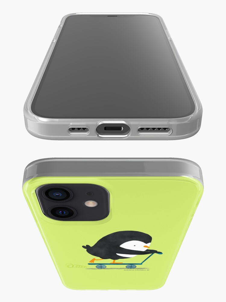 Alternate view of Penguin on Scooter iPhone Case & Cover