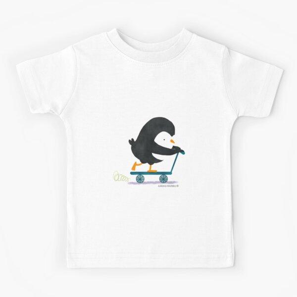 Penguin on Scooter Kids T-Shirt