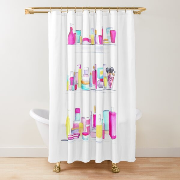 Makeup Cabinet Shower Curtain