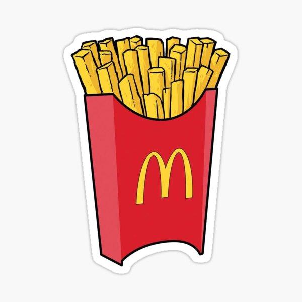 Sticker de papas fritas  de Mc'donalds  Pegatina