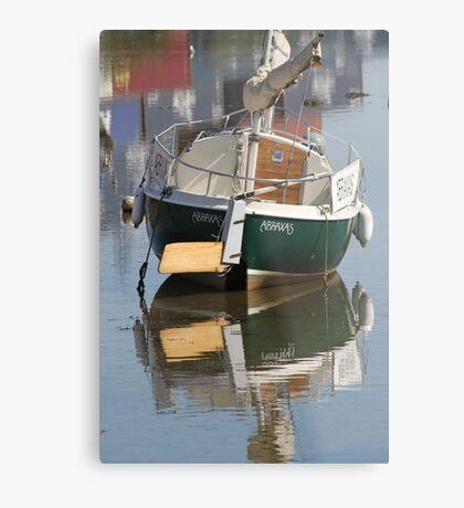 Little Green Boat Metal Print