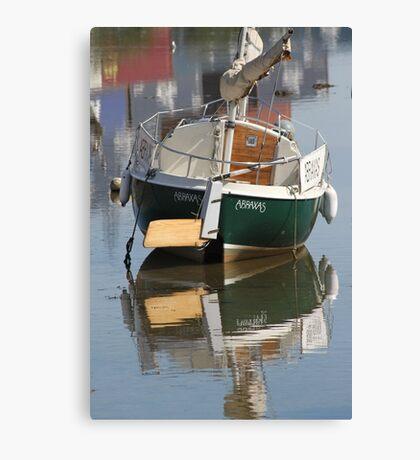 Little Green Boat Canvas Print