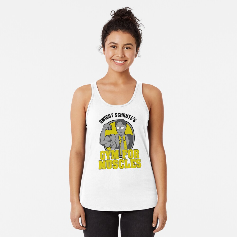 Dwight Schrute's Gym for Muscles Racerback Tank Top