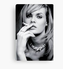 Glamourous smoker Canvas Print