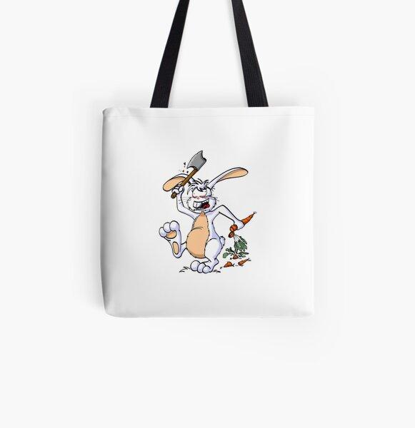 Crazy Bunny Allover-Print Tote Bag