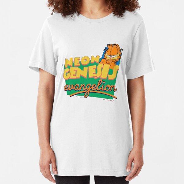 neon genesis garfield Slim Fit T-Shirt