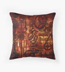 Steampunk Coronary Clockwork Gears Throw Pillow
