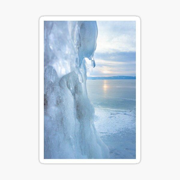 Ice cliff of Lake Baikal Sticker