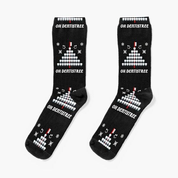 Lustiger Zahnarzt-Weihnachtsbaum OH- DENTISTREE Zahnarzthelfer Socken