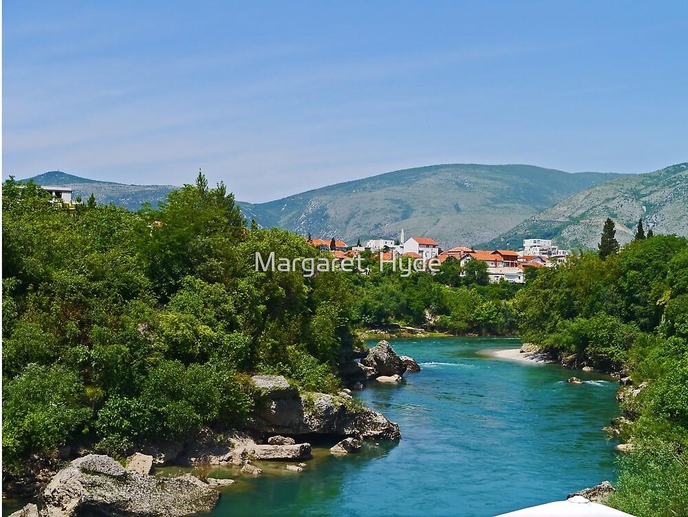 Mostar on the Nerevta River, Bosnia Herzegovina by Margaret  Hyde
