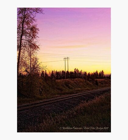 Rural Tracks (Columbia Falls, Montana, USA) Photographic Print