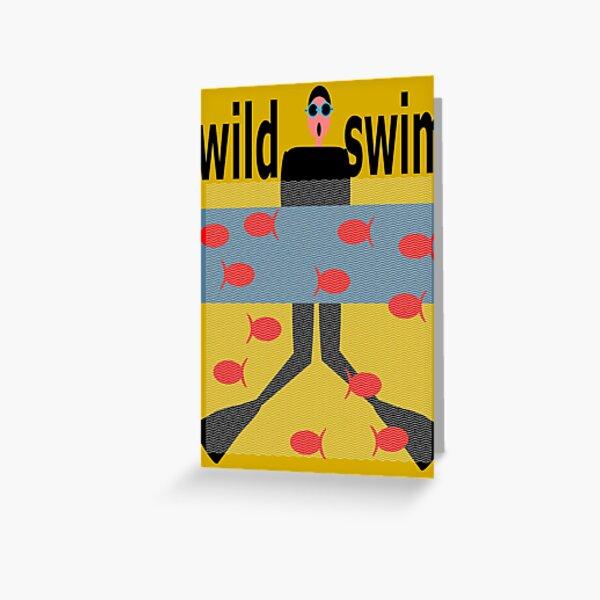 Wild Swim Greeting Card