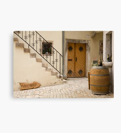 Shop in Rovinj, Croatia Canvas Print