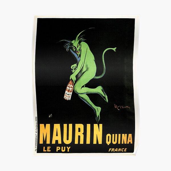 Devil MAURIN QUINA Liquor Absinthe Art Deco France Leonetto Cappiello Poster