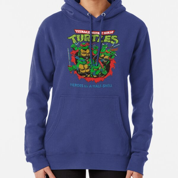 Heroes In A Half Shell (80s throwback design) Pullover Hoodie