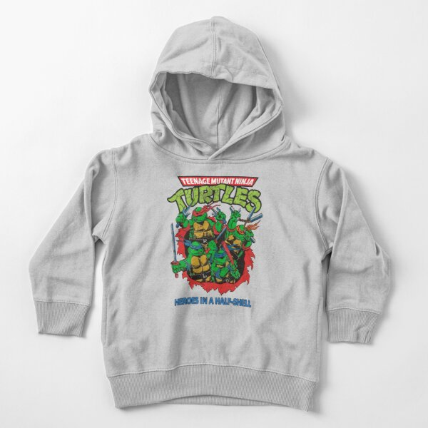 Heroes In A Half Shell (80s throwback design) Toddler Pullover Hoodie