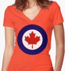 Royal Canadian Air Force Insignia Women's Fitted V-Neck T-Shirt
