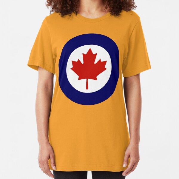Royal Canadian Air Force Insignia Slim Fit T-Shirt