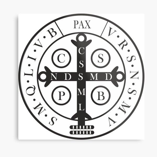 Saint Benedict Medal Metal Print