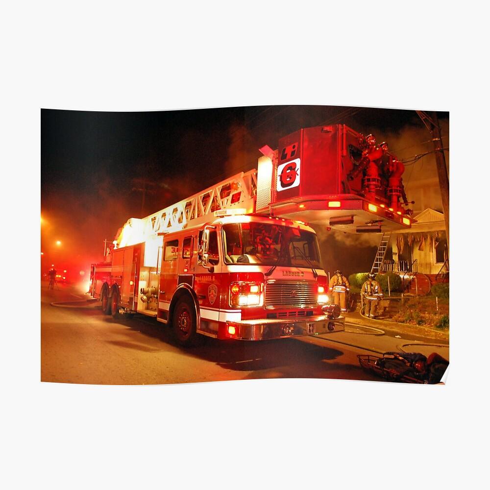 Buffalo Fire Department Ladder 6 Poster