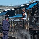 Are we on time? The Cathedral Express Steam Train by DonDavisUK