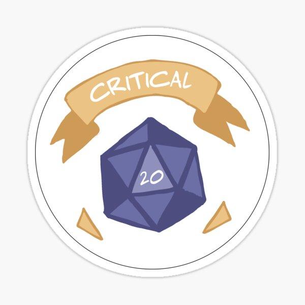 Critical 20 Sticker