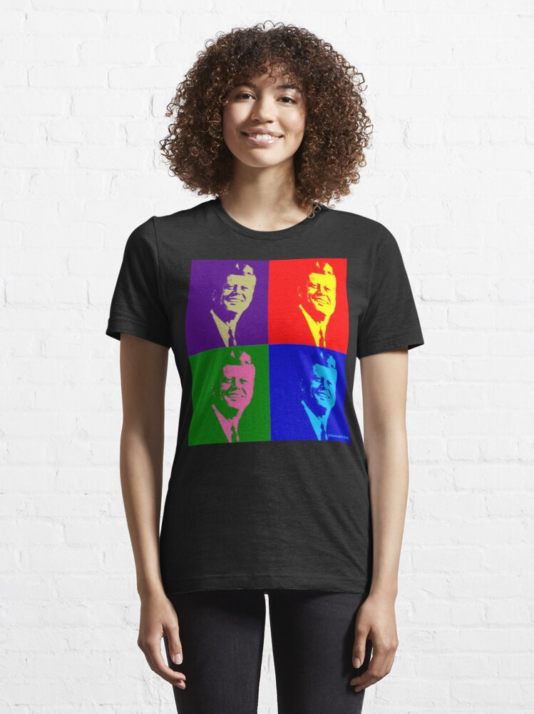 Alternate view of JFK Pop Art Essential T-Shirt