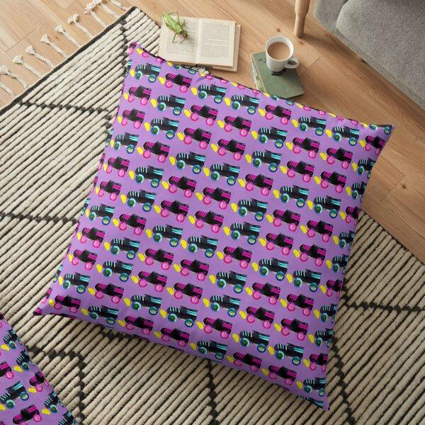 Purple Roller Derby Skate pattern Floor Pillow