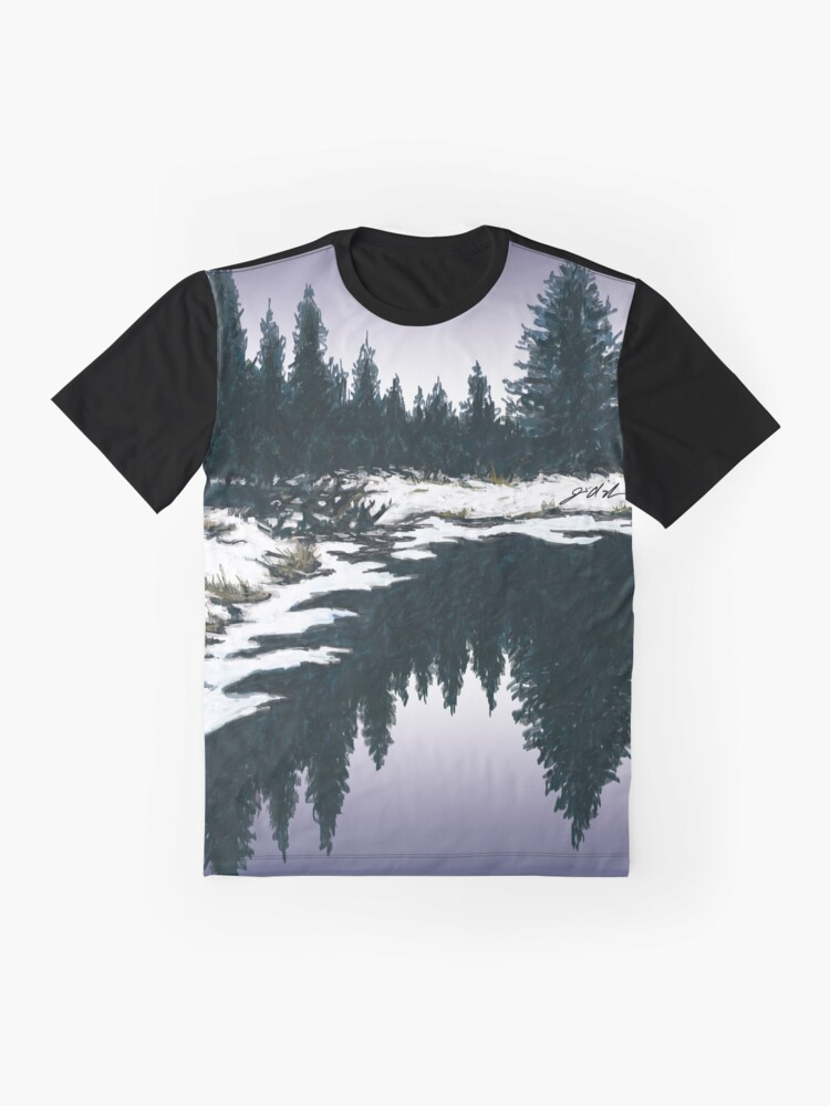 Alternate view of Upper Truckee River Sunset Graphic T-Shirt