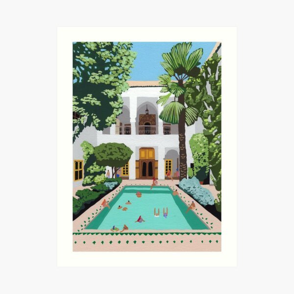 Marrakech Riad Art Print