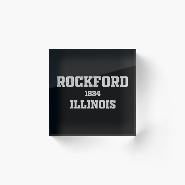 Rockford Illinois Acrylic Block