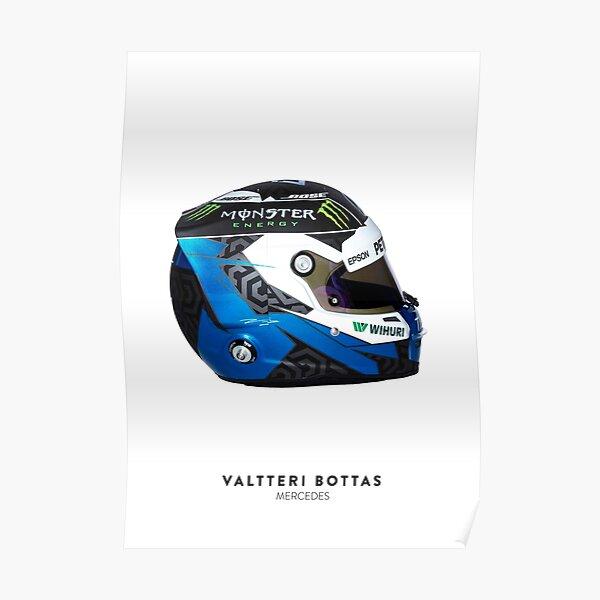 Valtteri Bottas 2019 Helmet Poster