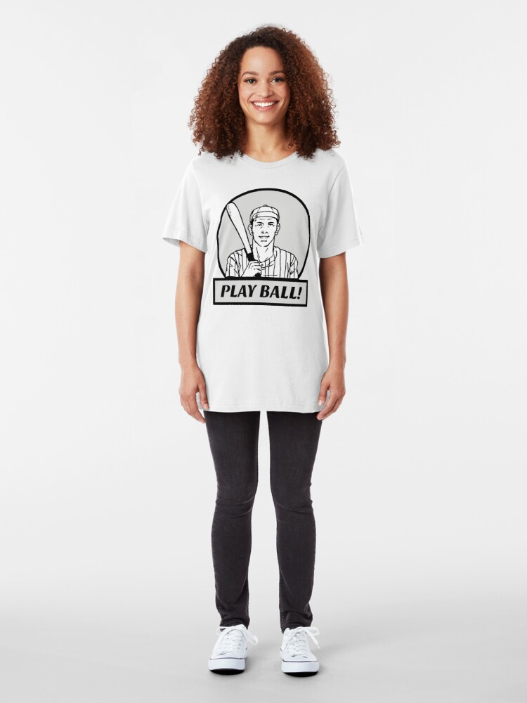Alternate view of Play Ball!! Slim Fit T-Shirt