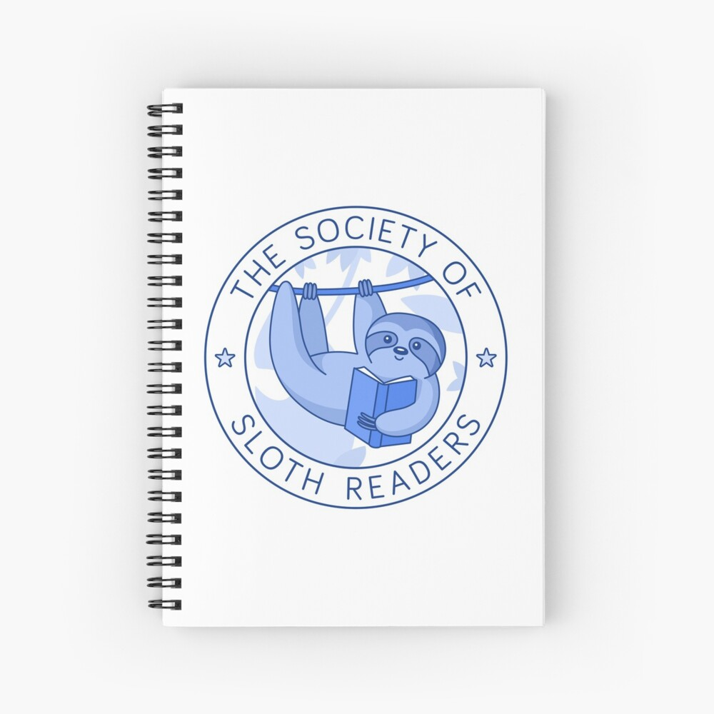 Society of Sloth Readers Spiral Notebook