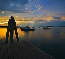 Pine Point, Maine Sunset (4) - August 2010 by Greg Fahey