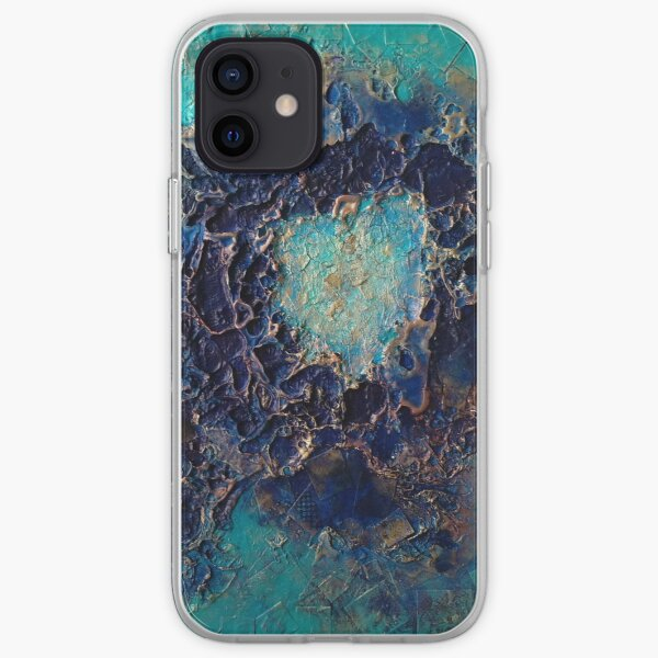 Blue Caldera against turquoise backgrouns iPhone Soft Case