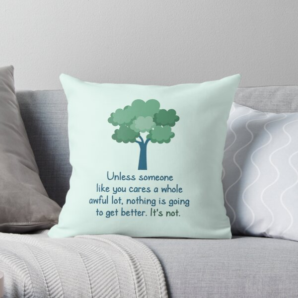 Unless - The Lorax Throw Pillow
