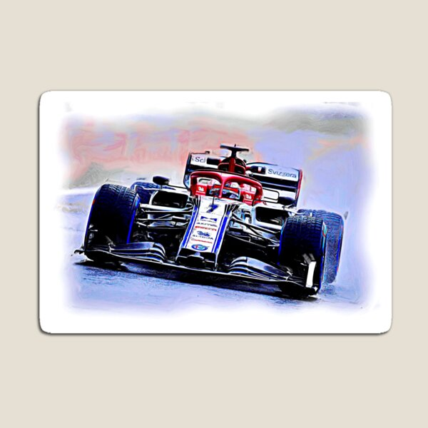 Kimi and a rainy day in Brazil Magnet