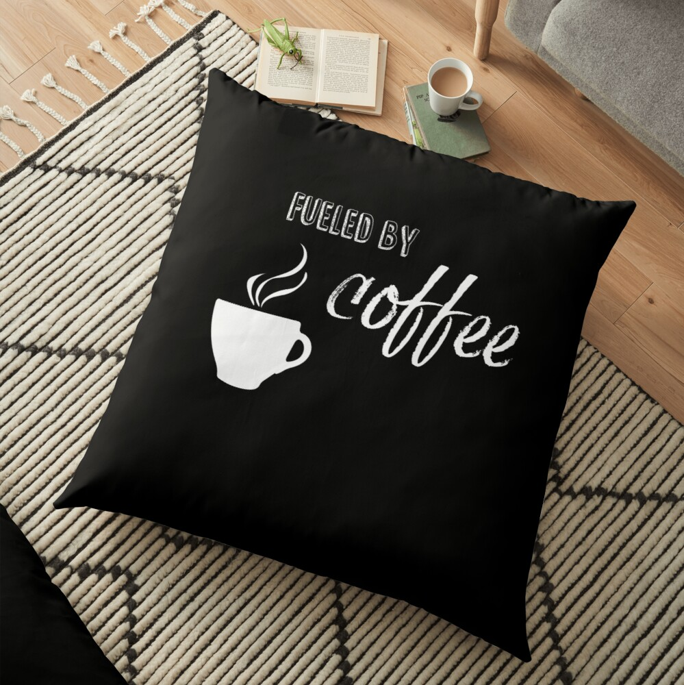 Fueled by coffee Floor Pillow
