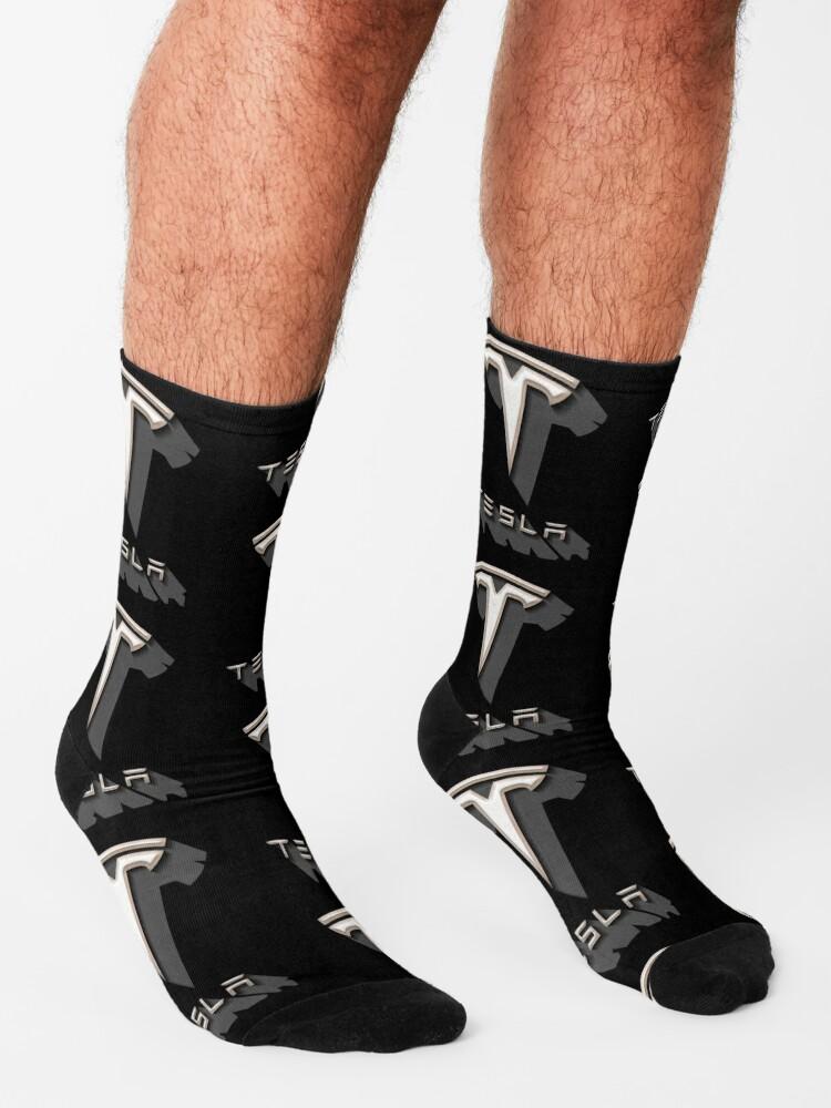 Alternate view of Tesla Shadow Sticker Socks