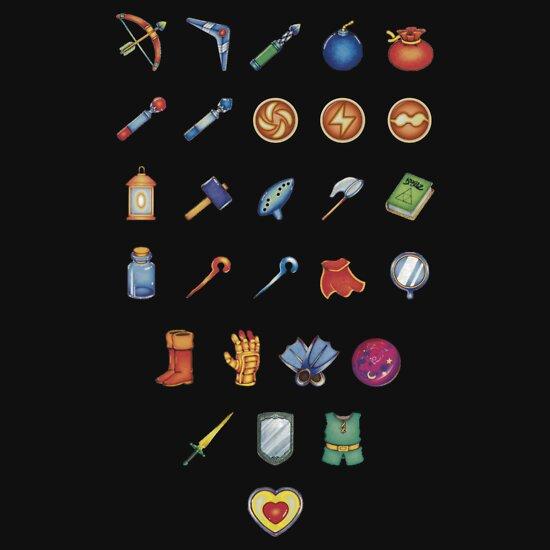 TShirtGifter presents: Zelda Inventory