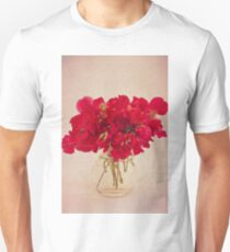 Red Sweet Pea Bouquet T-Shirt