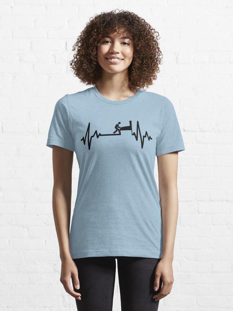 Alternate view of Swinks - Pinball Heartbeat (Black) Essential T-Shirt